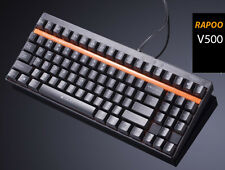 RAPOO V500 Gaming Mechanical Keyboard Black Blue Switches fit FILCO Majestouch