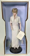 FRANKLIN MINT DIANA PRINCESS OF WALES PORCELAIN DOLL PEARL BEADED GOWN NRFB
