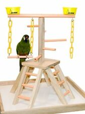 Parrot Pet Bird Playland Table Top Perch Play Gym 20""
