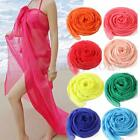 Women Sexy Chiffon Wrap Dress Sarong Pareo Beach Bikini Swimwear Cover Up Scarf