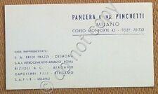 Materiali edili - Biglietto da visita - Panzera Pinchetti - Milano - anni '50