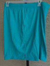 NEW  WOMENS JUST MY SIZE STRETCH WAIST POCKET JERSEY SHORTS Turquoise 3X