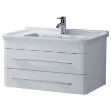 800mm Bathroom Wall Mounted Vanity Unit White Ceramic Basin Sink ECL20002