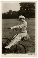 c1910 British Theater Pretty LILY ELSIE on Farm Equipment photo postcard