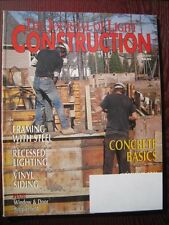 2000 JLC Journal of Light Construction CONCRETE BASICS, FRAMING WITH STEEL
