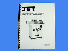 Jet   JWS-35X  Wood Shaper Operator  Instruction & Parts  Manual *169