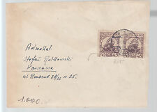 1927 Poland  Cover to  Warsaw