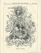 1875 Punch Cartoon Birds of a Feather
