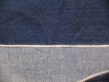 """Vintage Dark Blue Heavy Denim Fabric 2+ yds 58"""" wide"""