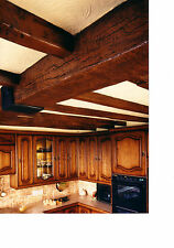False oak beams for 12'x12' ceiling, set of 1 beam & 10 joists special offer lot