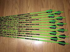 12 (400)AAE MAX Fletched BLEMISHED GOLD TIP Primos GREEN carbon arrows