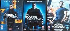THE BOURNE IDENTITY*SUPREMACY *ULTIMATUM(1,2,3) Trilogy Matt Damon DVD *EXC*
