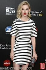 TOPSHOP SATIN STRIPE PARTY DRESS SIZE TALL UK12/EUR40/US8 CELEBRITY