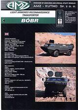 AMZ Bobr Beaver catalogue brochure military light armored  transporter