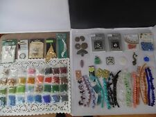 HUGE LOT BEADS STERLING SILVER GEMSTONE GLASS PENDANTS- LARGE LOT JEWELRY SUPPLY