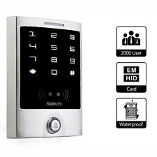 Waterproof Touch Panel keypad Door Access Control Reader RFID125KHz EM&HID Card