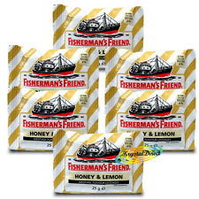 6x Fisherman's Friend Honey And Lemon Sugar Free Lozenges Sweeteners  25g