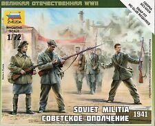 Zvezda 1/72 Figures - Soviet Militia 1941 Z6181