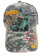 SNIPER One Shot One Kill Camouflage Hat Cap