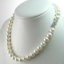 Charming!8-9mm White Akoya Cultured Pearl Necklace 17''