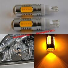 2PCS T10 T15 7.5W Lens Cree LED Light BULBS Amber Orange Car Signal Tail Turn