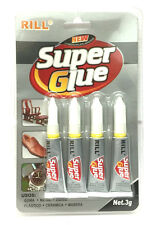 STRONG SUPER GLUE ADHESIVE FOR GLASS RUBBER METAL WOOD PORCELAIN CERAMIC 4X3g