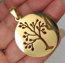 18K GOLD PLATED OVER STAINLESS STEEL TREE OF LIFE PENDANT R28