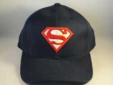 Superman Vintage Warner Bros Strapback Hat Cap Blue