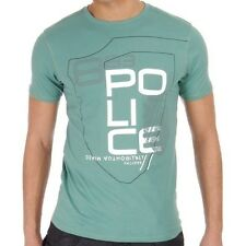 Police 883 S 2 Mens Aster Spruge Green T-Shirt BNWT Brand New Crew Neck Top