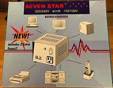 NIB seven star step up/step down voltage converter/transformer 110/220v 100watt