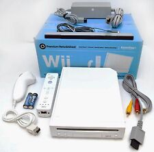 Nintendo Wii WHITE Video Game Console Home System Bundle Online RVL-101 gaming B