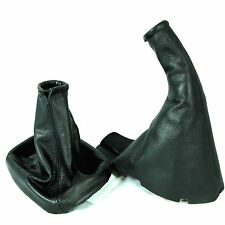 VAUXHALL CORSA C 2000-06 BLACK LEATHER GEAR SHIFT BOOT STICK GAITER HANDBRAKE