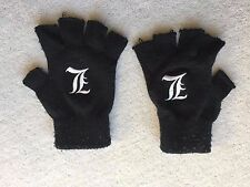 'L' Death Note Fingerless Gloves - *unworn!*- Anime Manga Attack On Titan Naruto