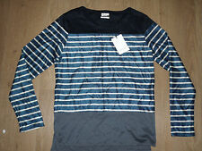 Paul Smith Mainline  Men's Knitted Cardigan Jumper Top Striped Blue White Size M