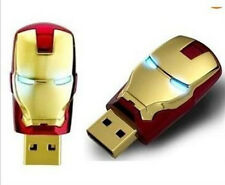 1pcs Gold USB 2.0 unique iron man model 8G Memory Stick Flash pen Drive W3A !
