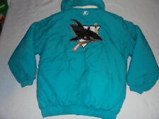 NHL Hockey San Jose Sharks vintage deadstock Starter Hooded Parka Jacket Large