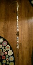 Antique Germany Walking Stick With Old Town Souvenir Tags, 12 attached tags
