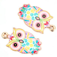 20pcs Wholesale Gold Plated Animal Owl Patterns Styles Crafts Alloy PendantsL