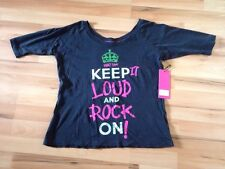 Abbey Dawn Keep It Loud T Shirt BNWT