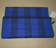 NWT BURBERRY BLUE GREEN WOOL CASHMERE NOVA CHECK SCARF SNOOD