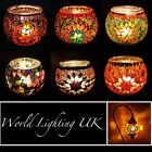 Glass Turkish Moroccan Colourful Mosaic Candle Holder Tea Light Lamps