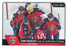 16/17 O-PEE-CHEE OPC TEAM CHECKLIST #628 FLORIDA PANTHERS LUONGO SMITH *24031