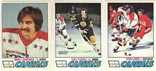 6 1977-78 OPC HOCKEY WASHINGTON CAPITALS CARDS (LAMPMAN/FORBES+++)