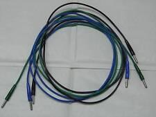Lot de 3 câbles cordons (noir+bleu+vert) + fiches bananes 4mm Radiall 1m50 150cm