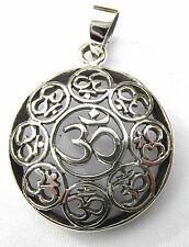 Sterling Silver (925)  Oms In  Circles  Pendant     !!       Brand  New  !!