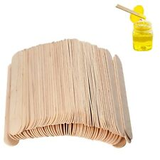 100Pcs 6 Inch Wood Tongue Depressor Large Wooden Waxing Spatula Wax Stick Craft