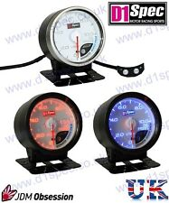 D1 SPEC UNIVERSAL RACING OIL PRESSURE GAUGE 60mm WHITE DIAL JDM RALLY DRIFT