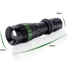 Waterproof 8000 LM Zoomable CREE XM-L Q5 LED Flashlight Torch Zoom Lamp Light TR