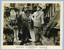 VINTAGE - MONSIEUR VERDOUX - CHAPLIN & STATUE  ORIGINAL MOVIE PRESS PHOTO - 1947