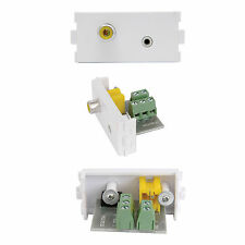 2.5MM & RCA COMPOSITE VIDEO SOCKET MODULE/MODULAR WALL FACE PLATE OUTLET